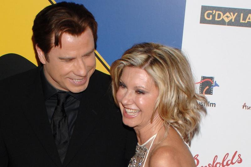 Look: Olivia Newton-John, John Travolta don 'Grease' costumes for fan event